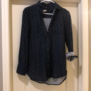 Women's polka dot button down